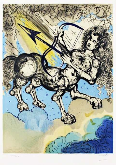Salvador Dalí Twelve Signs of the Zodiac Sagittarius