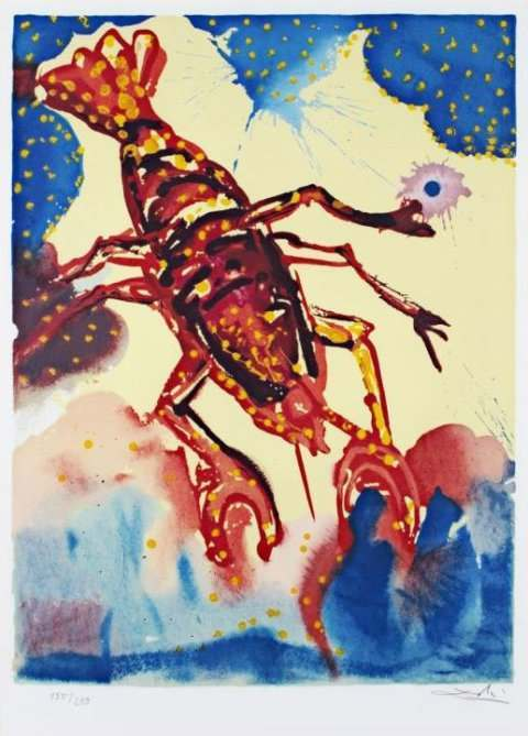 Salvador Dalí Twelve Signs of the Zodiac cancer