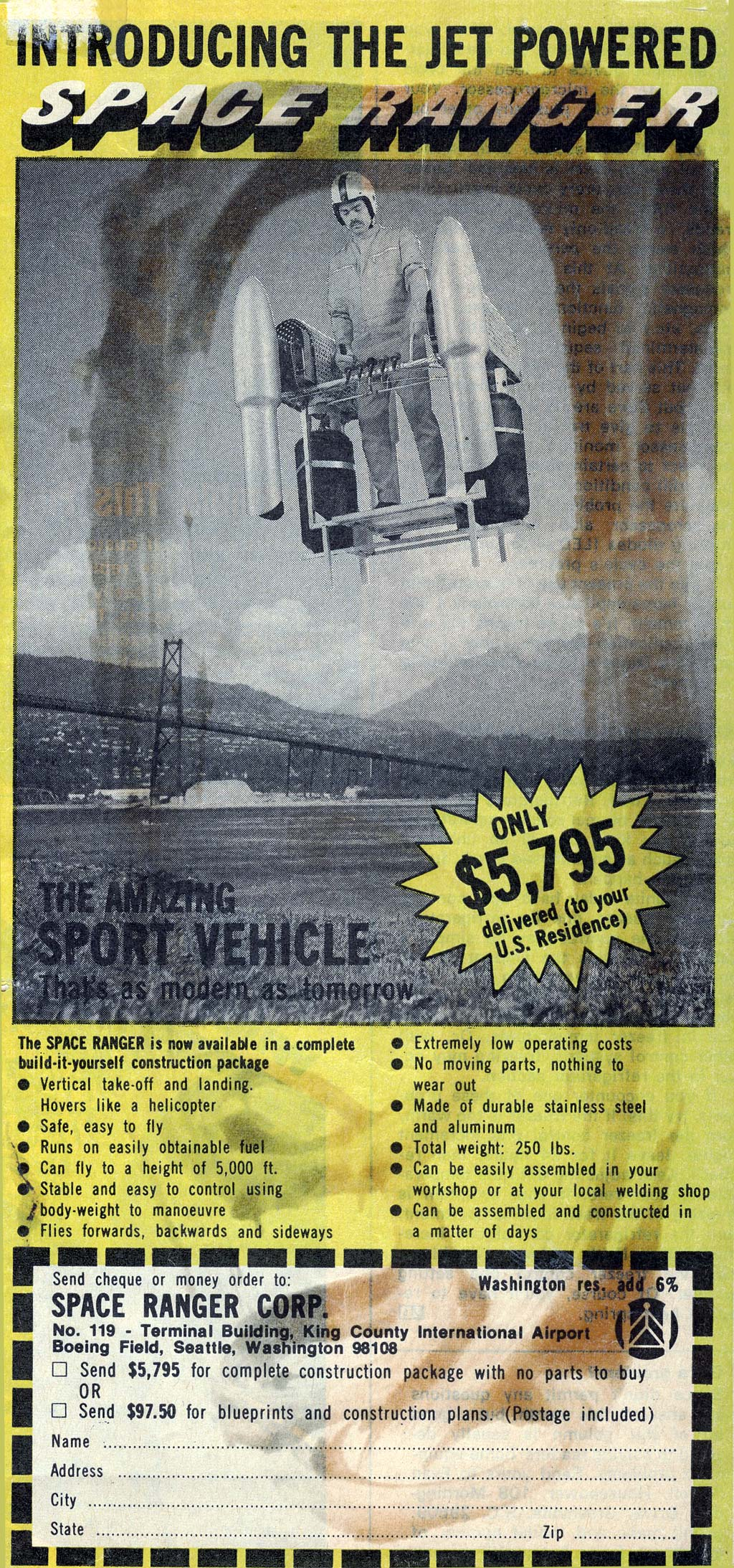 The jet powered space ranger a home build rocket man kit 1977 advert spaceranger solutioingenieria Image collections