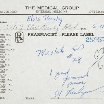 Elvis Presley Drugs Paraphernalia For Sale (And The King Of The Jews Says Chai)