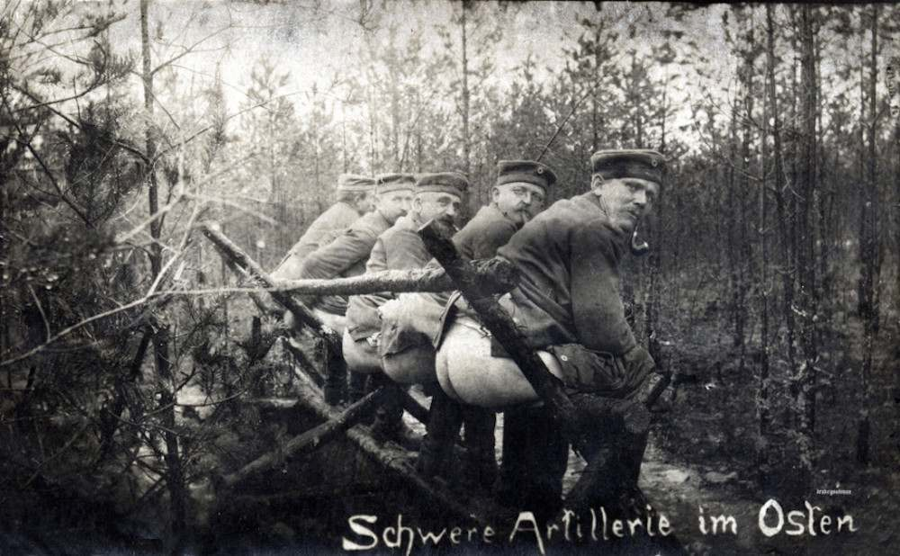 """Schwere Artillerie im Osten""/ Heavy artillery in the East. (c) Drake Goodman."