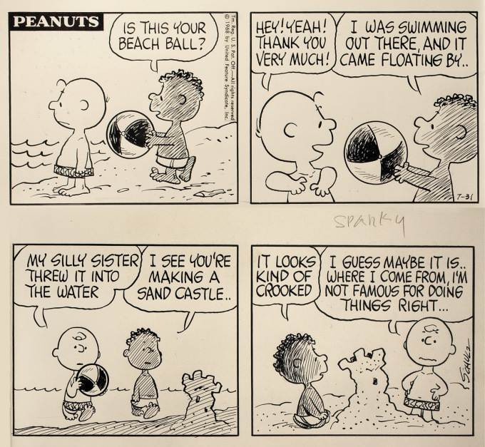 Charles M Schulz Franklin letter civil rights