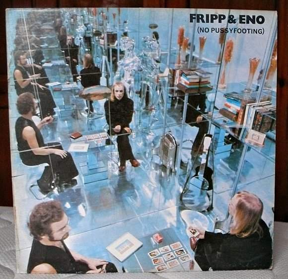 front cover (No Pussyfooting), Fripp & Eno, EG/Island, 1973.