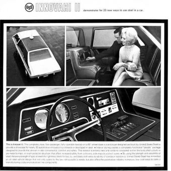 The United States Steel Innovari Concept Car Christmas Holiday Album