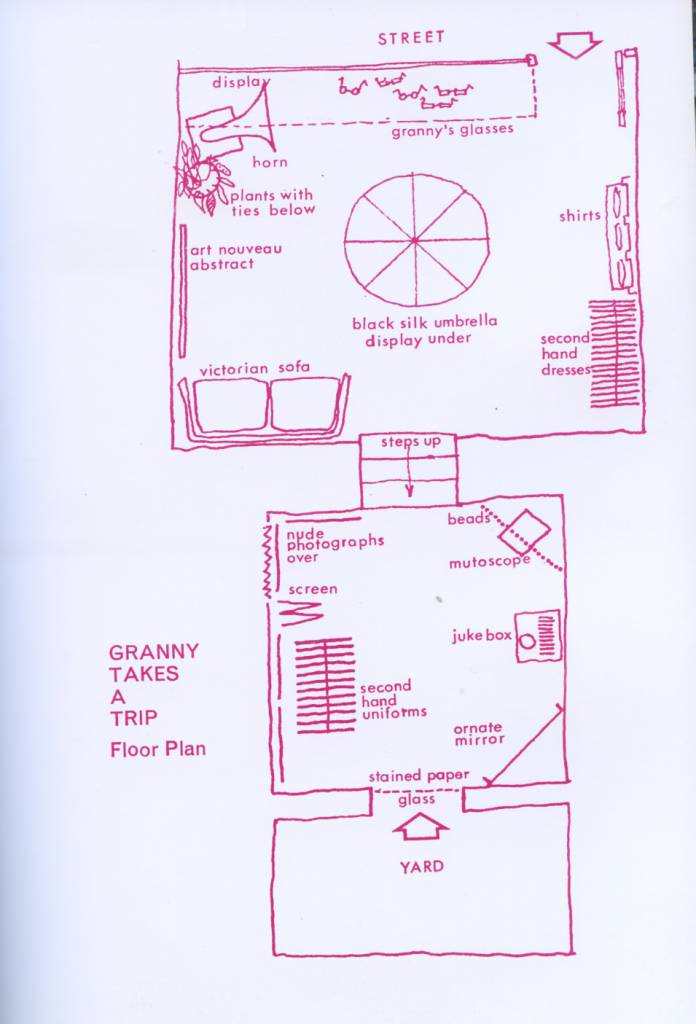 Plan of the interior of Granny's in London Magazine, October 1966.
