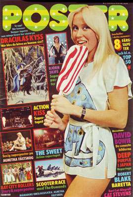 agnetha poster magazine lolly