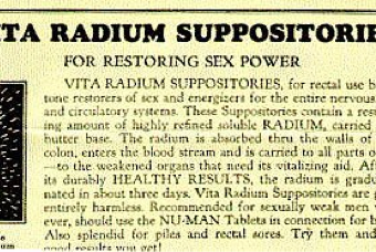 Stiffen Your Sex Drive With A Prostate Gland Warmer And Radium Suppository (1920s)