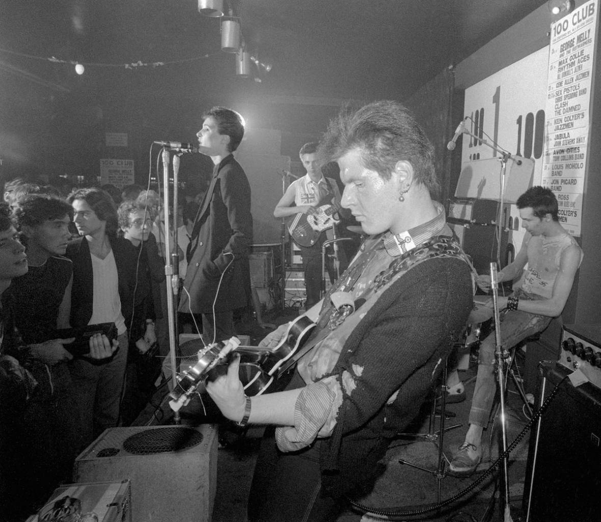 Mandatory Credit: Photo by Ray Stevenson/REX Shutterstock (619076g) Siouxsie and the Banshees - Siouxsie Sioux, Steve Severin Sid Vicious (on drums) and Marco Pirroni Siouxsie and the Banshees first gig at the 100 club, London - 1976