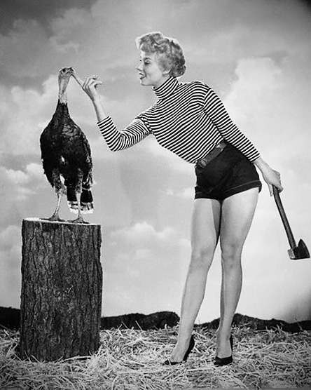 Adelle August Standing by Turkey