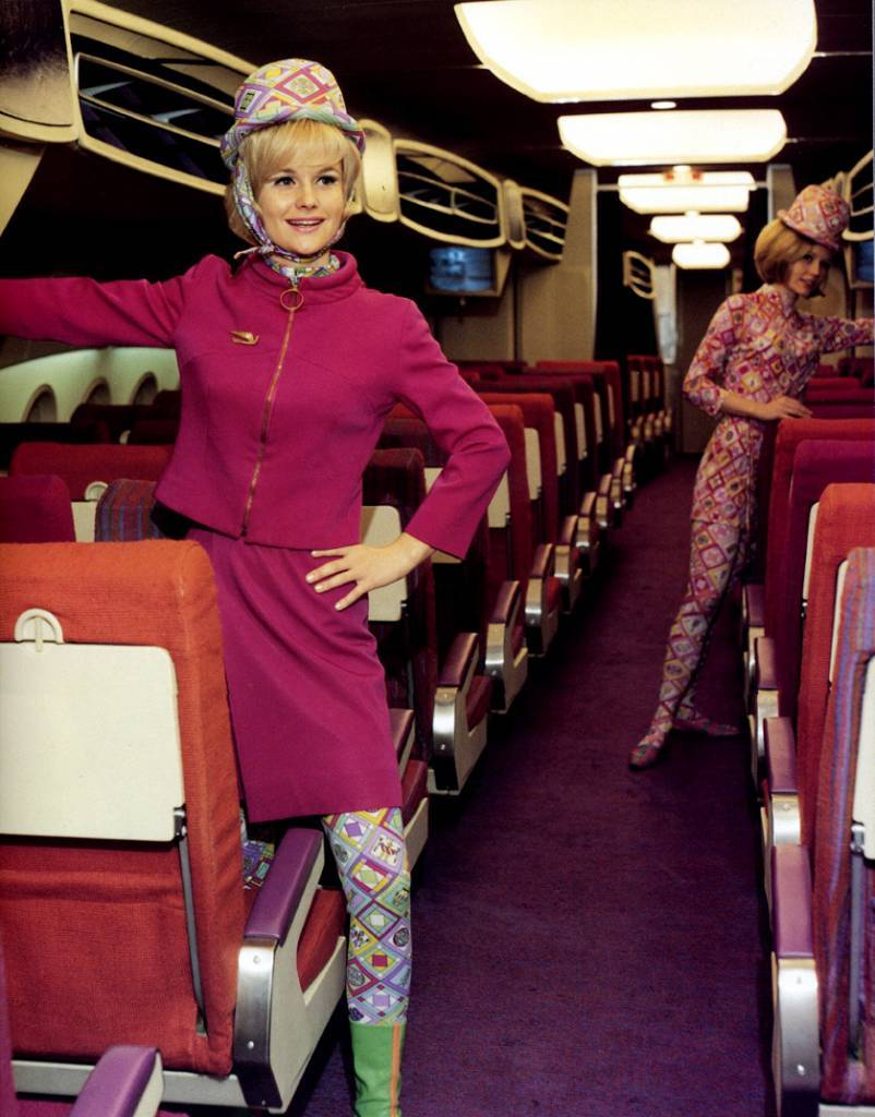 Emilio Pucci Uniforms for the Braniff International Airline, 1965-73 (via)