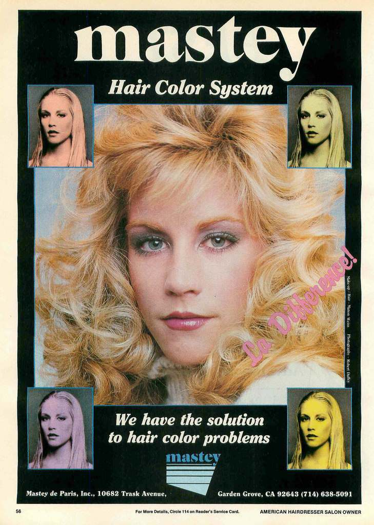 American Hairdresser Salon Owner 1982 hair