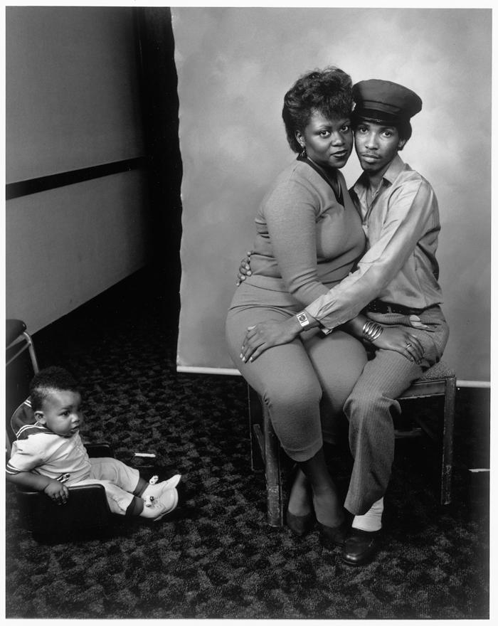 Black Couple and Baby, Bakersfield, California,