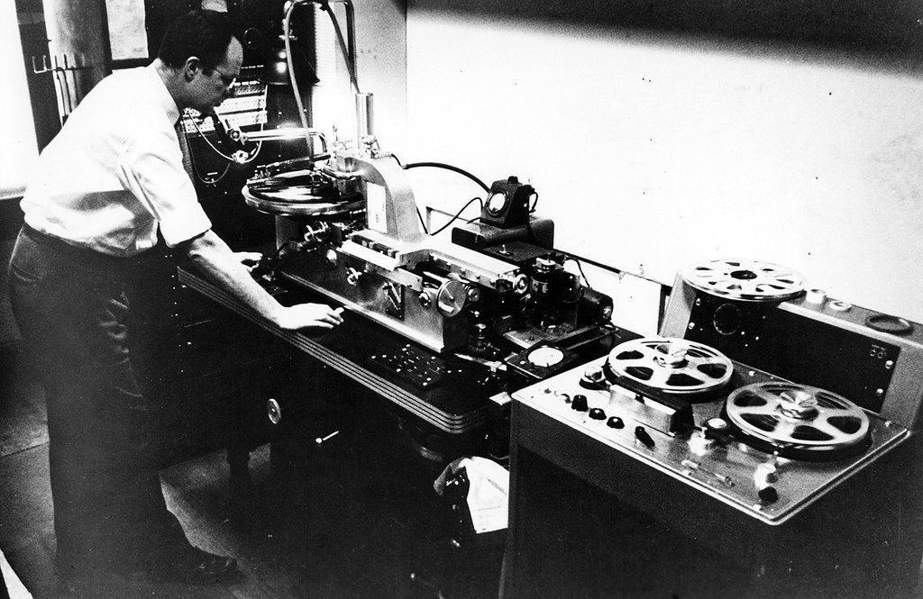 """opying from the original master tape to the disc master."""""""