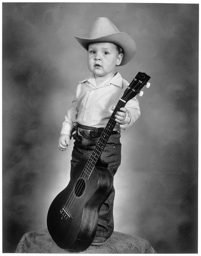 Toddler with Guitar, Merced, California, 1980