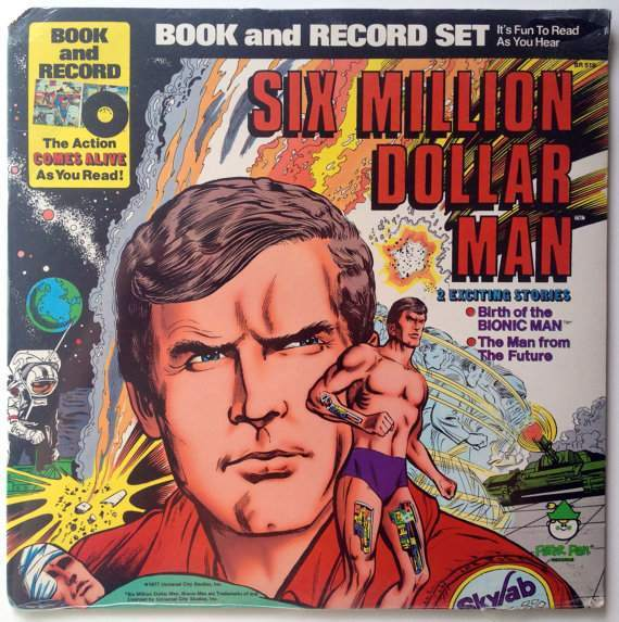 six million dollar man record lp