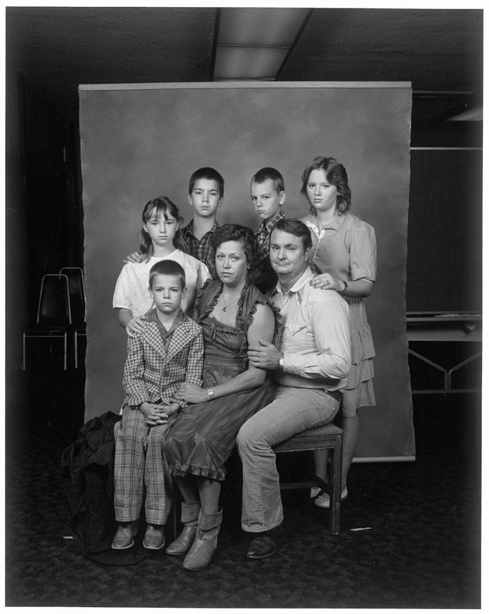 Parents with Five Children, Bakersfield, California, 1983