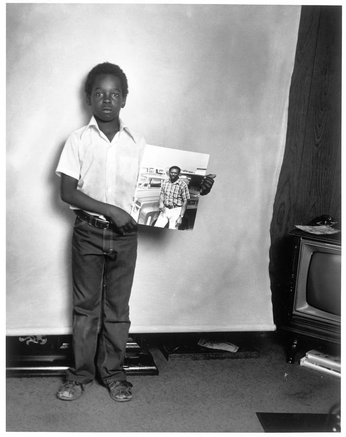 Black Boy with Picture of His Father, Fremont, California, 1979