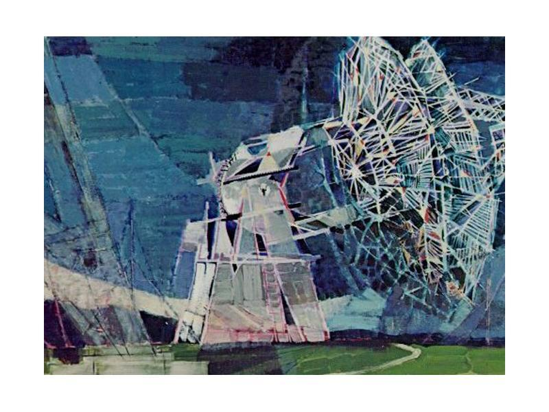 Big Dish Antenna Artist: Paul Arlt, 1968 Media: Acrylic on polyester Description: This large antenna was part of NASA's worldwide tracking network. In order to maintain contact with Earth-orbiting spacecraft, it was necessary to establish communication stations around the world.