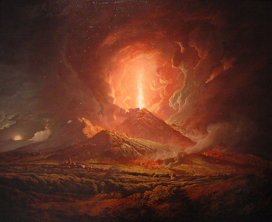 Vesuvius from Portici by Joseph Wright of Derby
