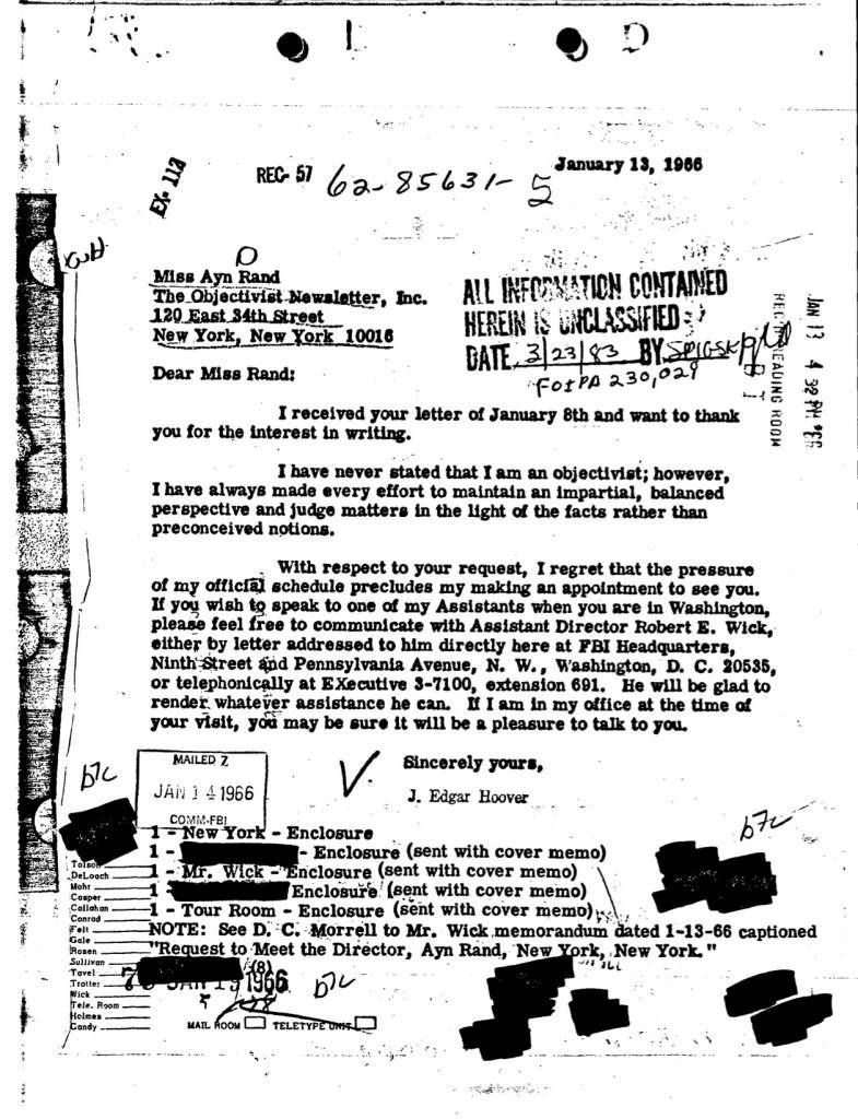 aryn rand fbi files