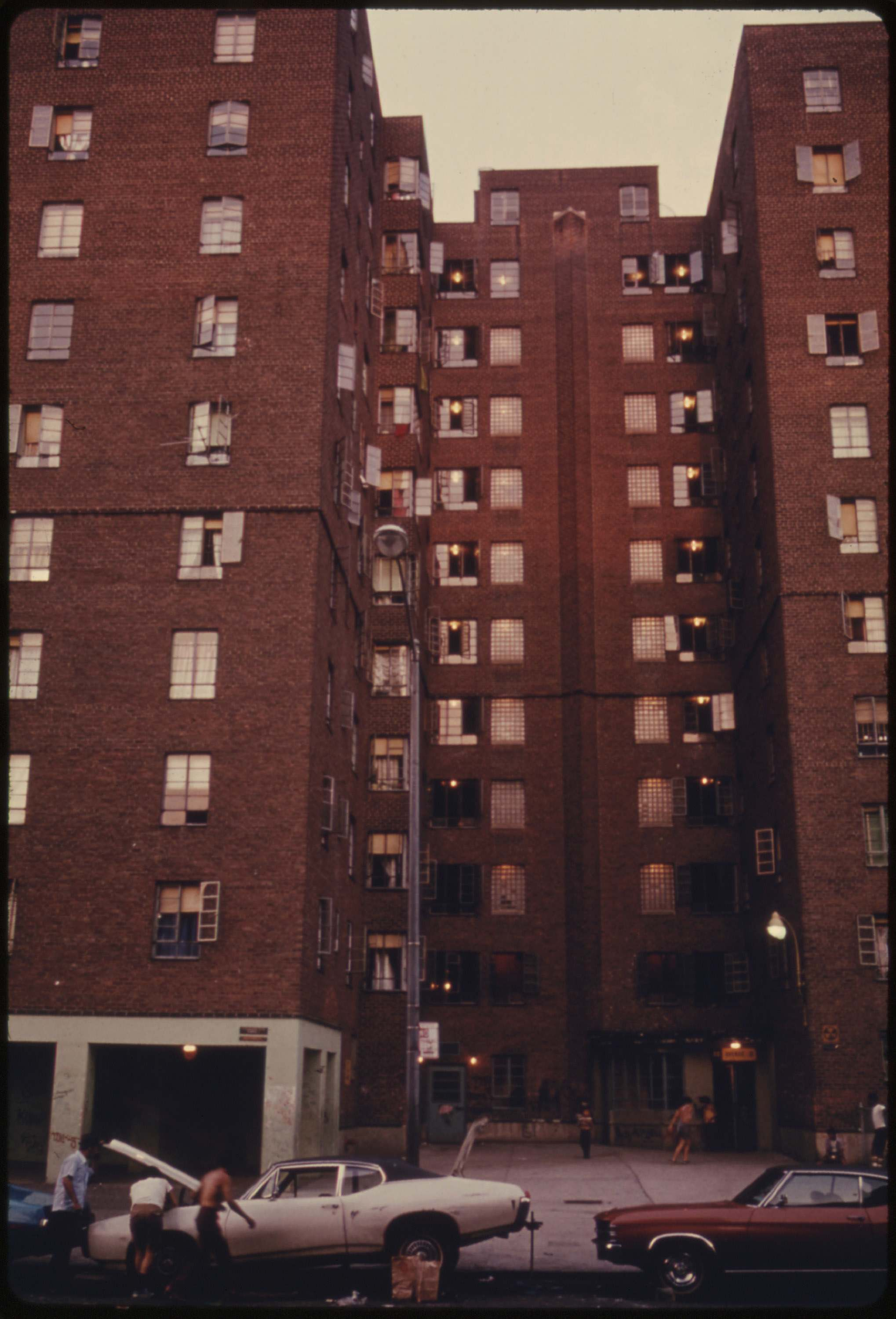 Avenue D housing project on the Lower East side of Manhattan, June 1974.