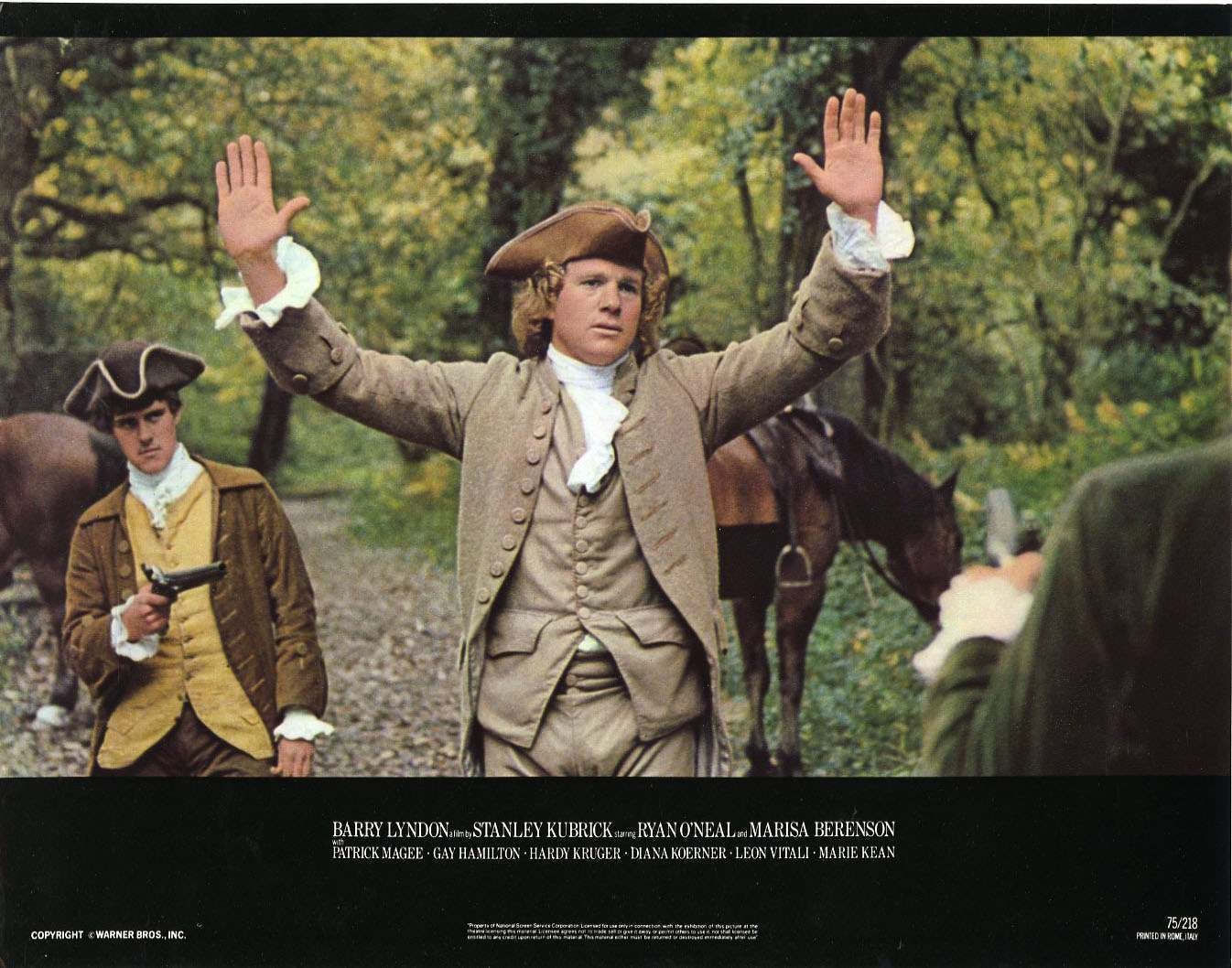 Barry Lyndon lobby card hands up