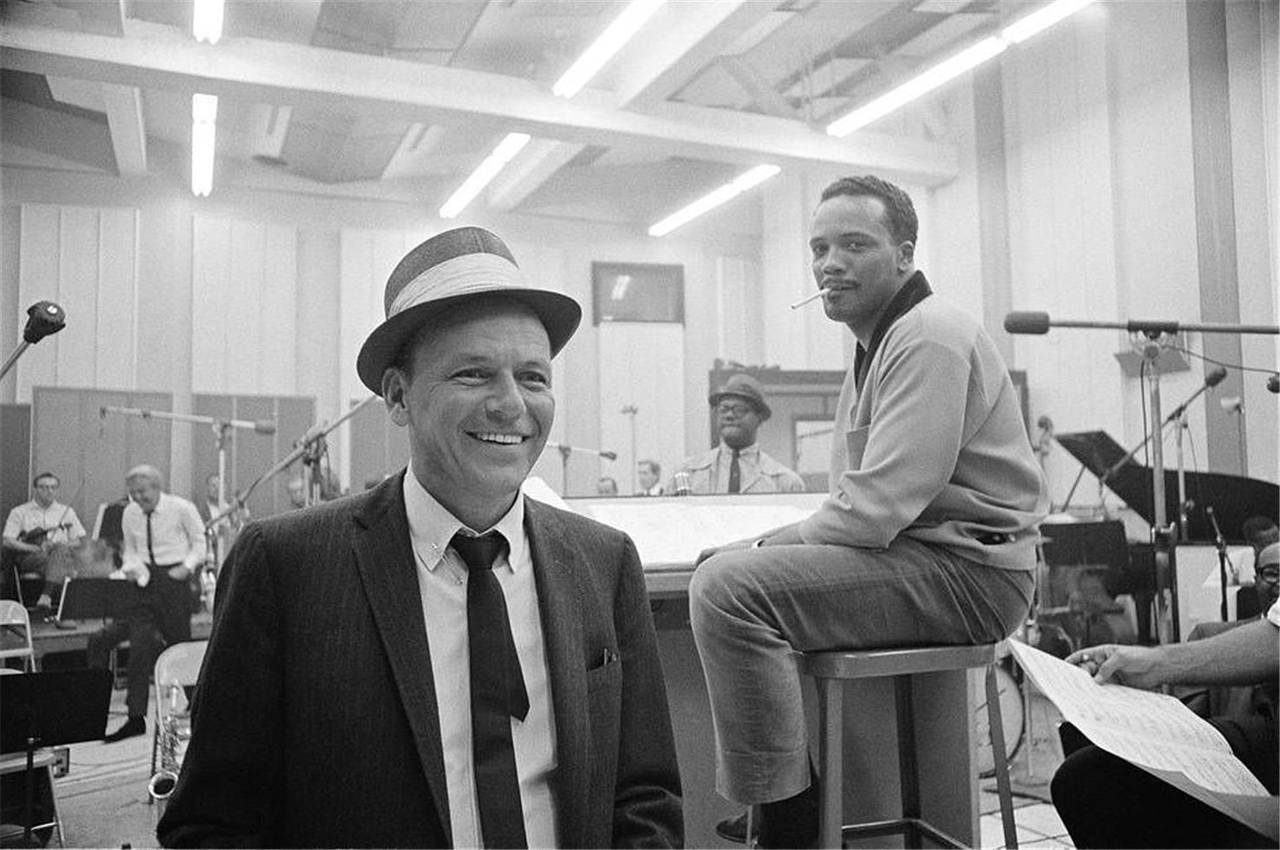 David Sutton Frank Sinatra and Quincy Jones, 1964