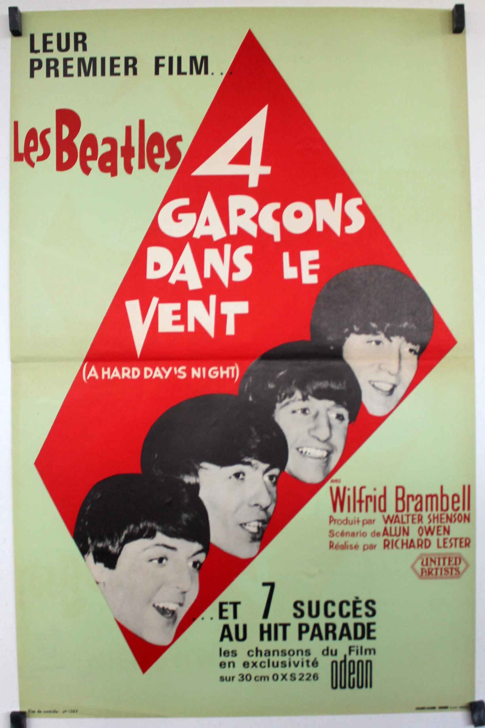 French Hard Days Night poster