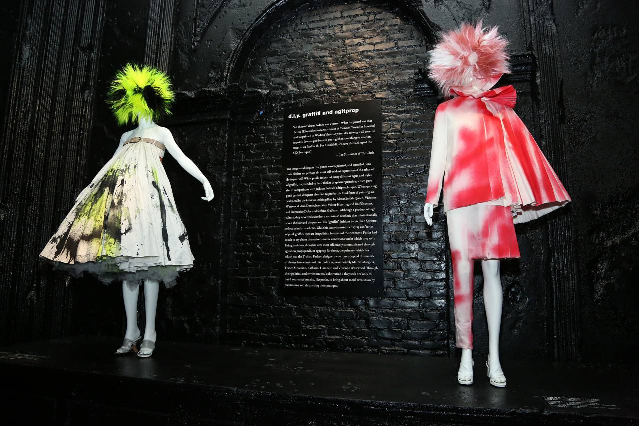 """NEW YORK, NY - MAY 06:  """"PUNK: Chaos to Couture"""" Costume Institute Exhibition Press Preview at the Metropolitan Museum of Art on May 6, 2013 in New York City.  (Photo by Rob Kim/Getty Images)"""