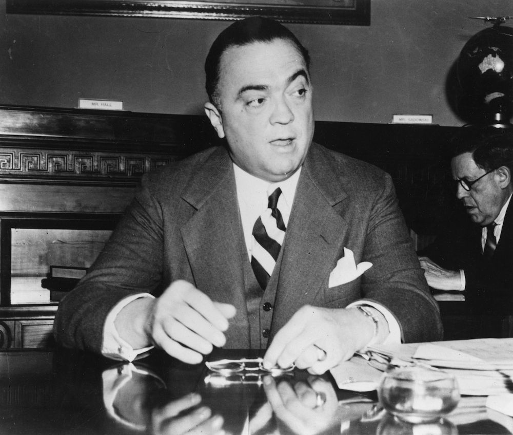 John Edgar Hoover (1895-1972), American criminologist and government official. (Photo by Keystone/Getty Images)