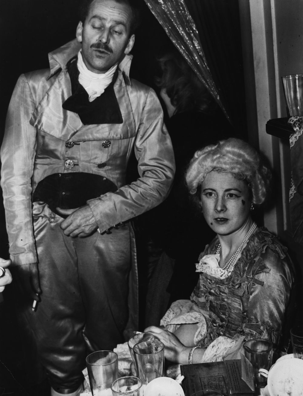 31st December 1946: Ted and Barbara Castle (1911 - 2002) at the Chelsea Arts Ball, New Years Eve 1946. (Photo by Topical Press Agency/Hulton Archive/Getty Images)