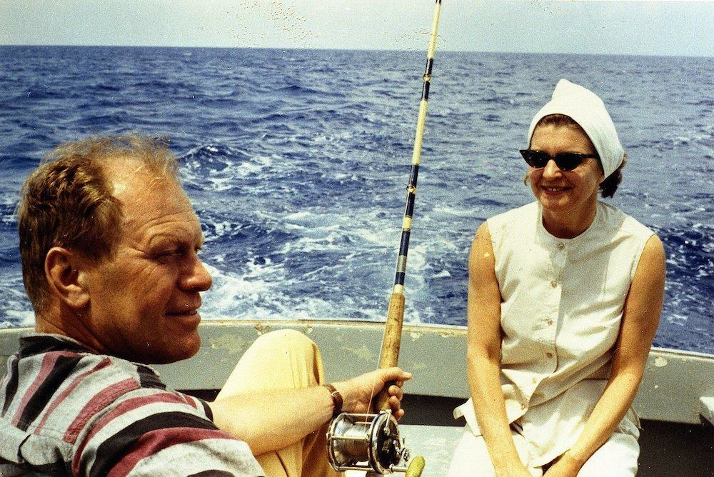 UNDATED; Representative Gerald R. Ford relaxes with his wife Betty Ford while deep-sea fishing during a Caribbean vacation in this undated 1972 handout photo. he former President passed away at his home in California December 26, 2006. He was 93. (Photo Courtesty of Gerald R. Ford Library via Getty Images)