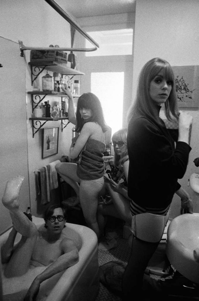 Bruce Conner (in tub), Toni Basil, Teri Garr, and Ann Marshall, 1965