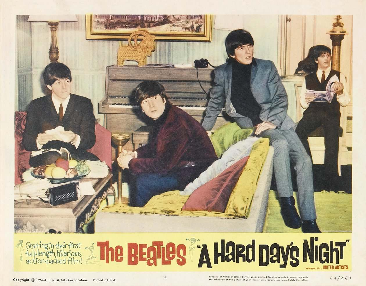 Hard Day's Night lobby card 10