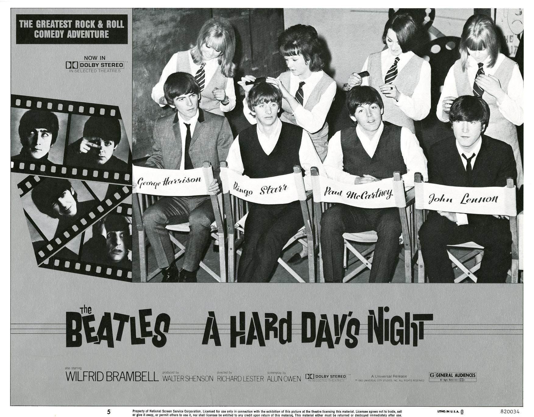 Hard Day's Night lobby card 2