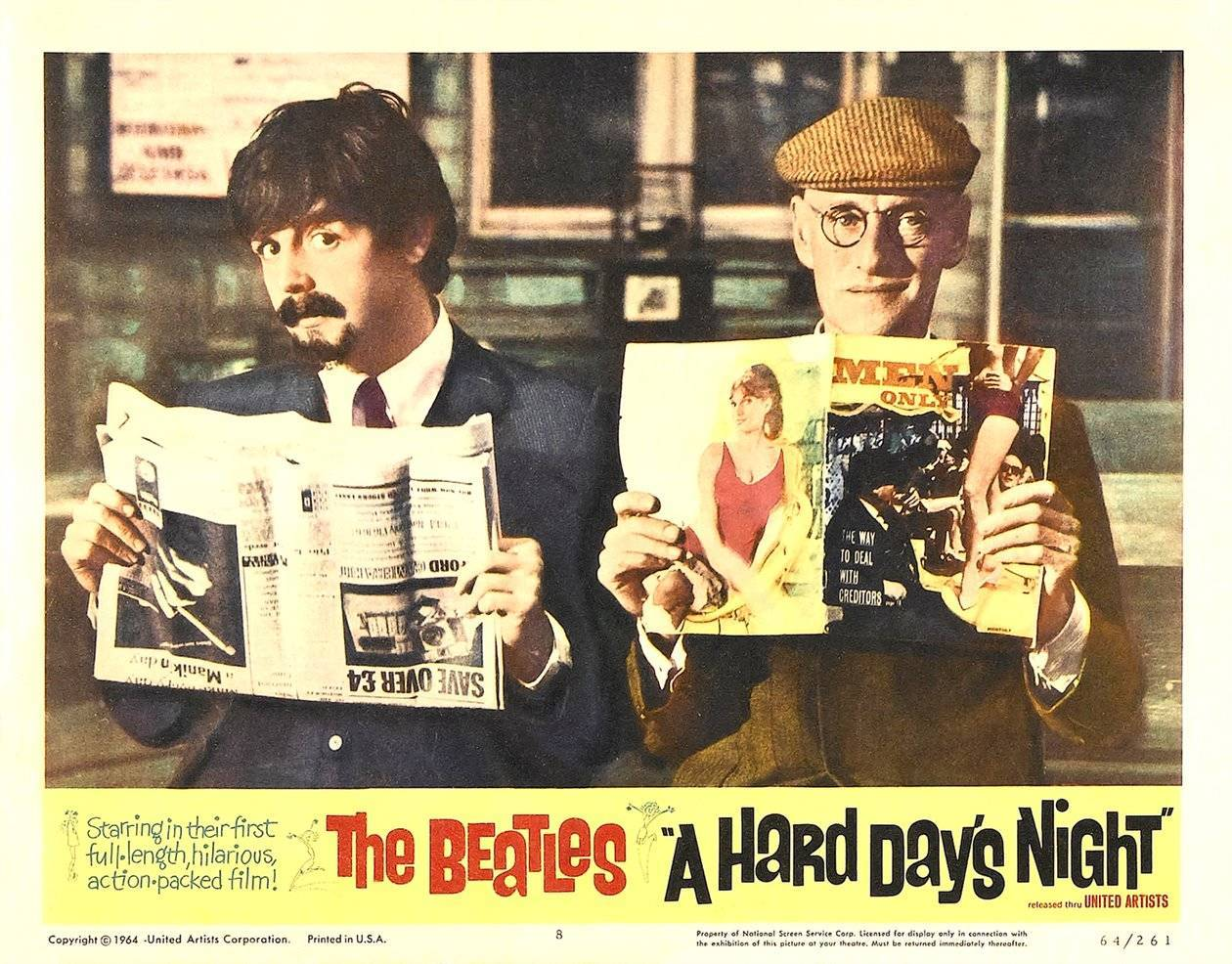 Hard Day's Night lobby card 4