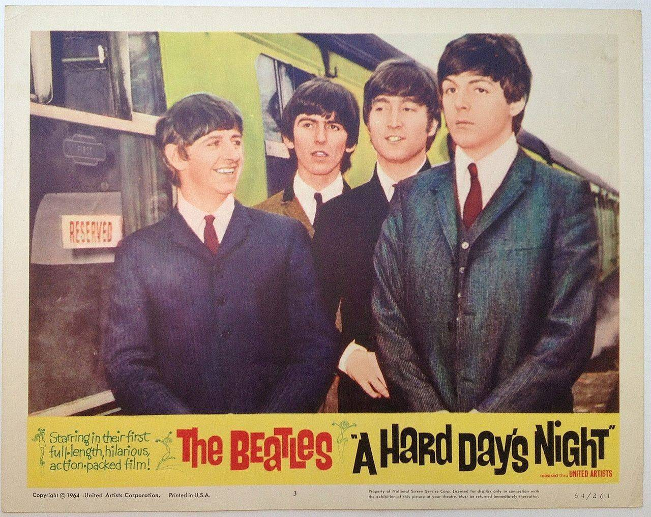 Hard Day's Night lobby card 6