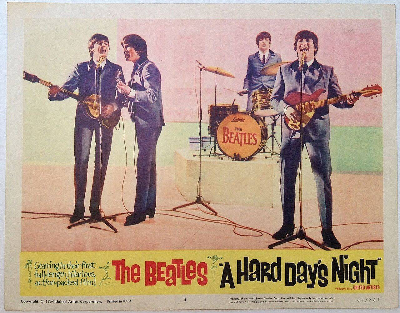 Hard Day's Night lobby card 8