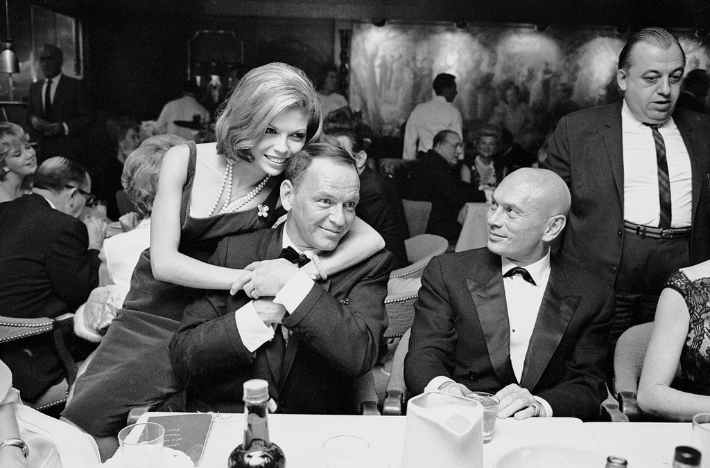 Nancy and Frank Sinatra and Yul Bryner 1965.