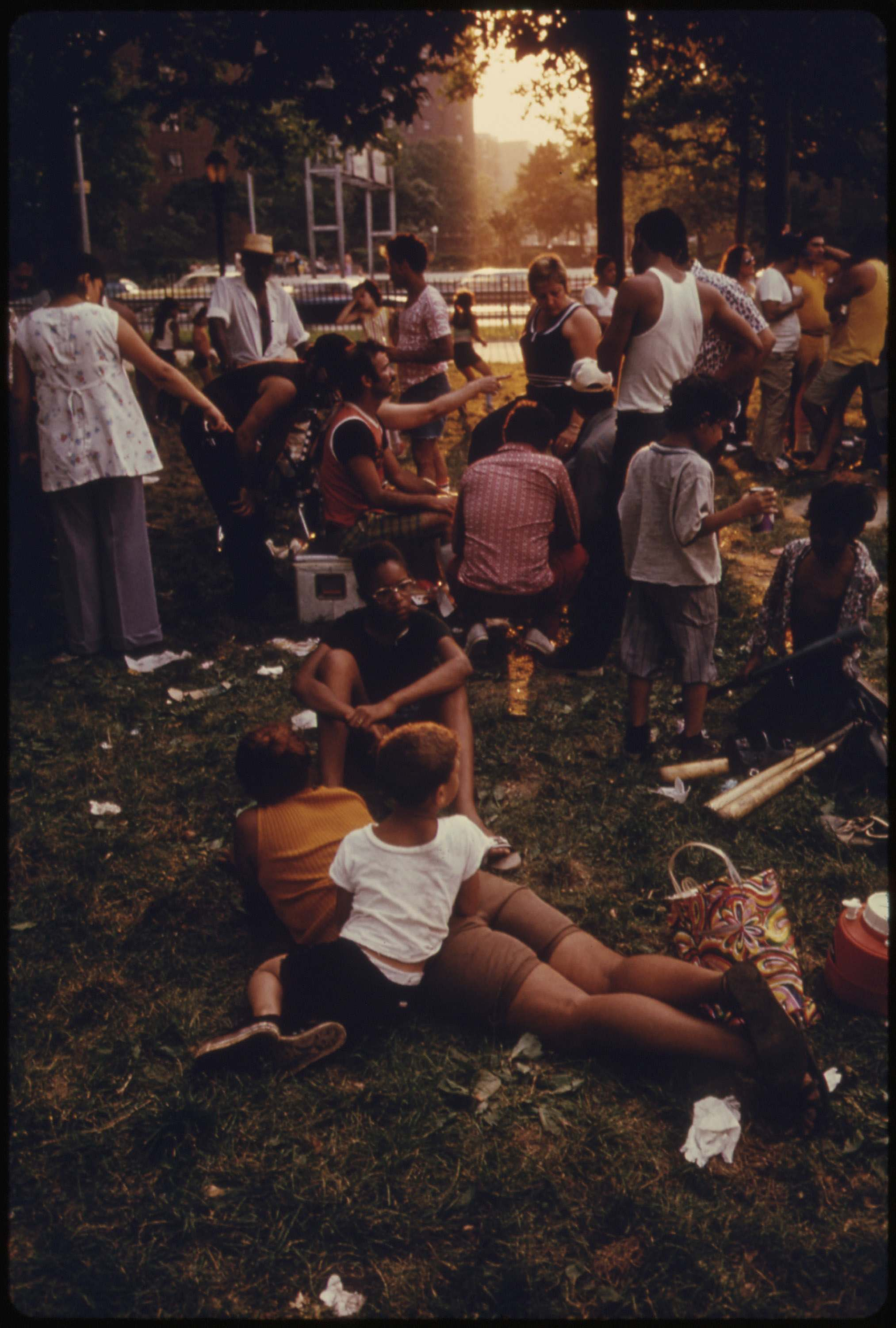 East River Park in Manhattan, July 1974.
