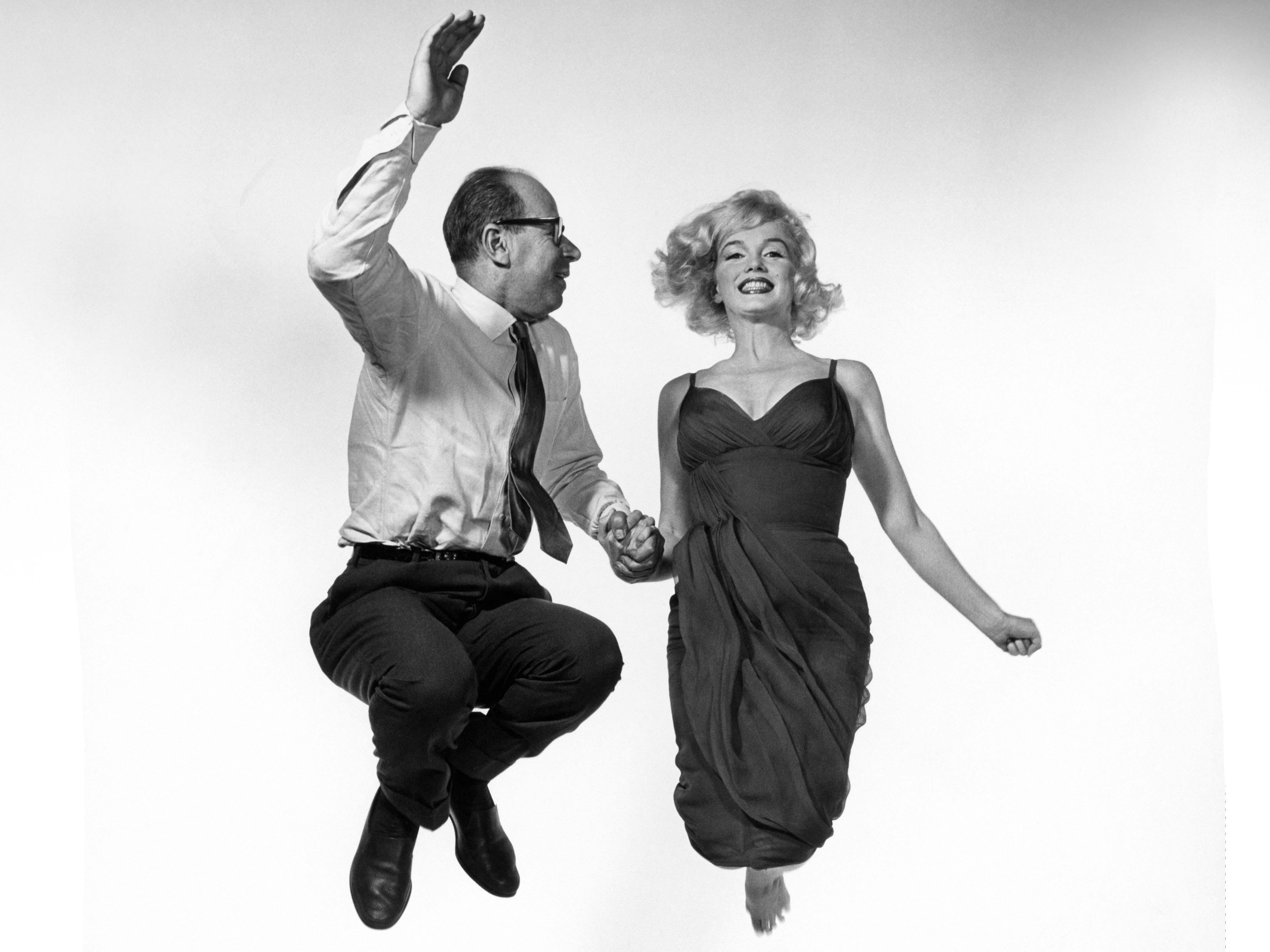 Usa 1959 American Actress Marilyn Monroe Jumping With