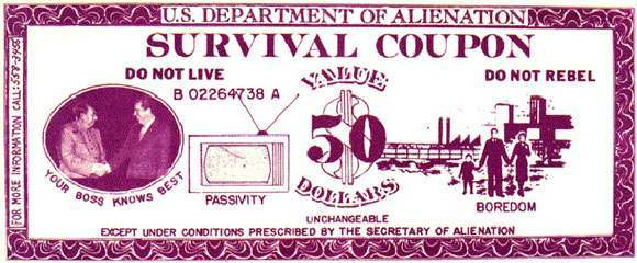 Point-Blank! survival coupon distributed in San Francisco, 1973
