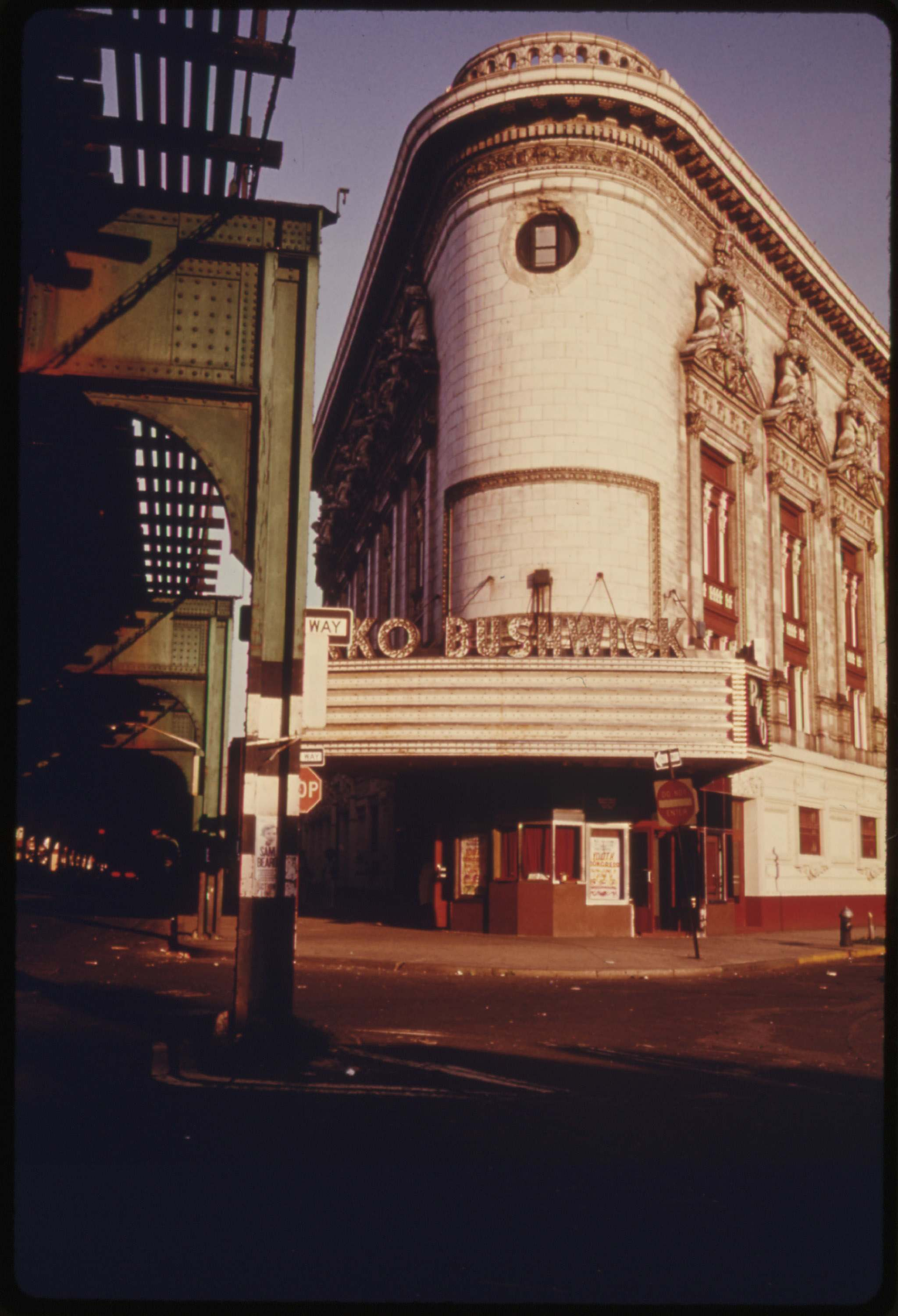 RKO Bushwick Theatre in Brooklyn, July 1974. Documerica: Danny Lyon's Photos of New York City in the Summer of 1974