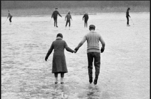 Boxing Day ice skaters make use of the frozen Englemere Lake, at Ascot, Berkshire. December 26, 1962