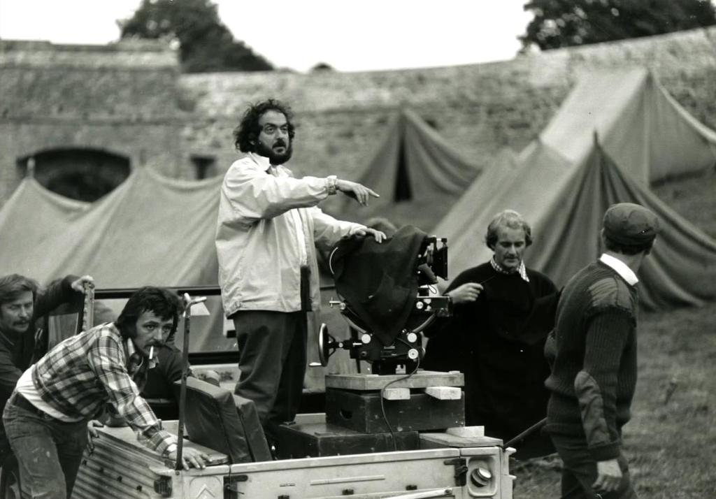 Stanley Kubrick filming Barry Lyndon. Still photographer- Keith Hamshere
