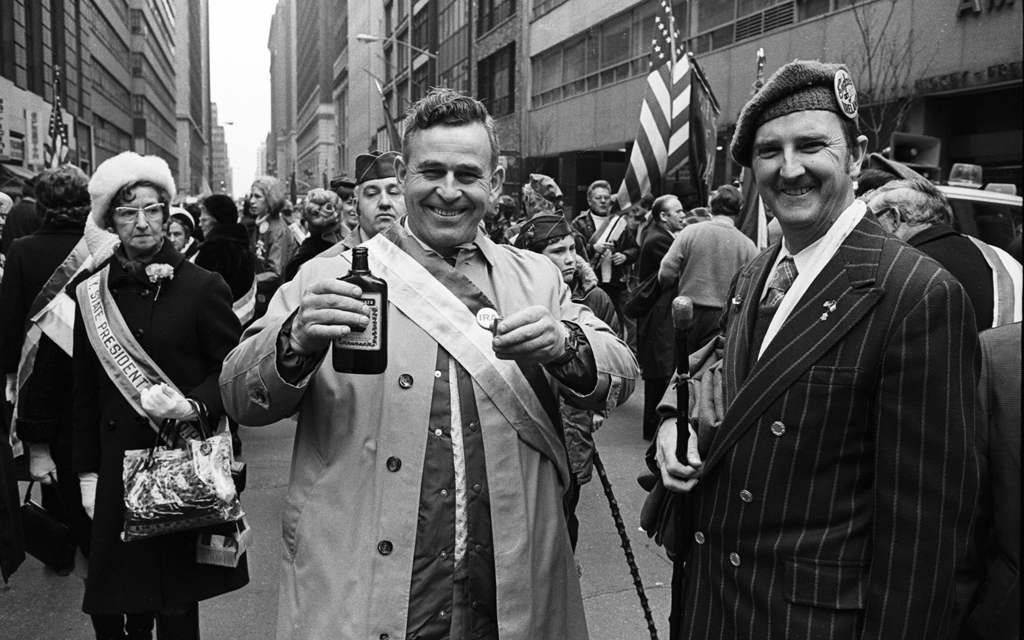 Tony Marciante Parade two men and bottle 1974