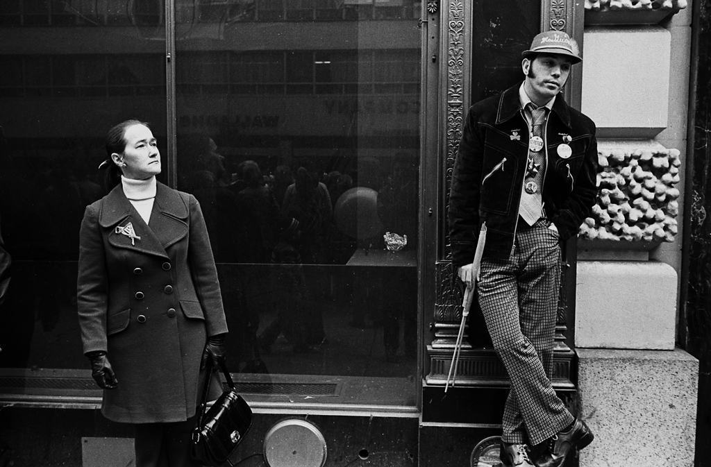 Tony Marciante watching the parade NYC 1974