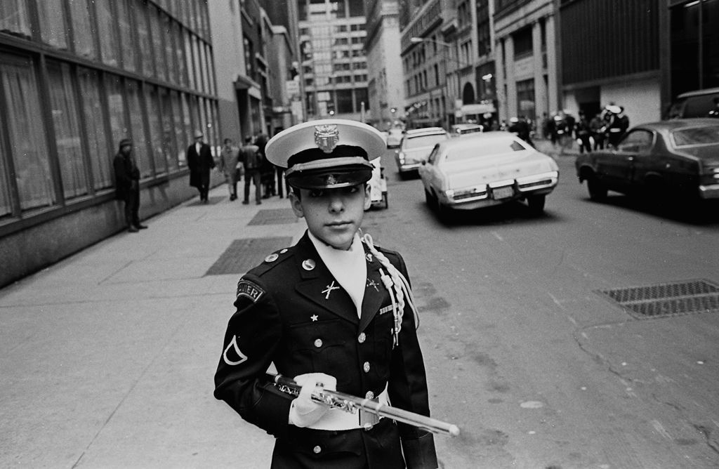 Tony Marciante young flautist in parade 1974