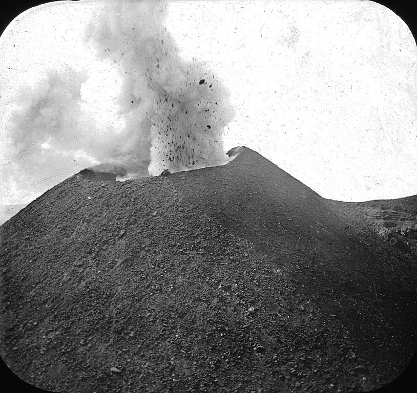Vesuvius, Italy. Vesuvius [erupting]. Brooklyn Museum Archives, Goodyear Archival Collection