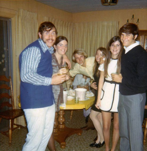 new years eve party retro vintage dancing drinking